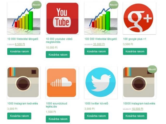 Twitter, youtube, google plus+1, instagram, soundcloud