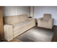 Eladó újszerű 3-személyes kanapé és fotel - áron alul