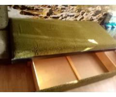 2 db zöld ágyneműtartós ágy