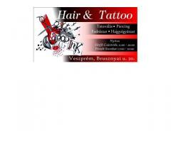 Tattoo& Hair  tetoválás fodrászat minőség megfizethető áron