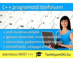 C++ tanfolyam Budapesten, akár 9 hét alatt