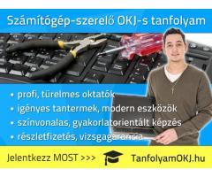 Számítógép-szerelő, karbantartó OKJ tanfolyam Budapesten