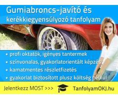 Gumiabroncs-javító OKJ-s tanfolyam Budapesten