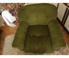 Zöld bársony ülőgarnitúra eladó